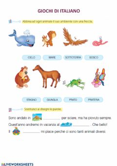Interactive worksheet Giochi italiano