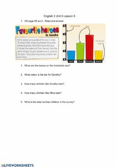 Interactive worksheet Questions about a picture