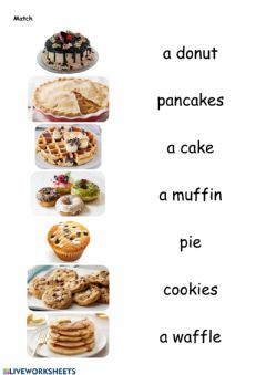 Interactive worksheet Desserts, Food