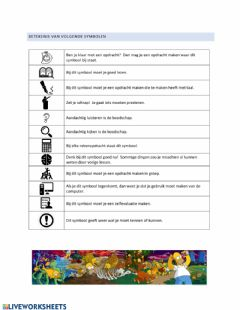 Interactive worksheet Symbolenuitleg