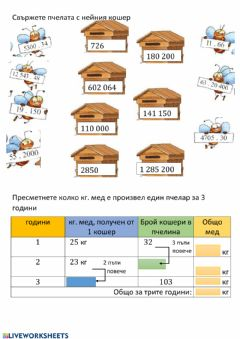 Interactive worksheet Умножение с двуцифрено