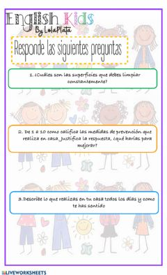 Interactive worksheet Enfermedades