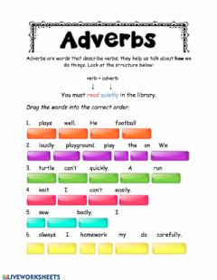 Ficha interactiva Adverbs Unit 5
