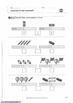 Interactive worksheet Zowiso - P1 - les5