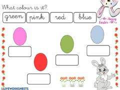 Interactive worksheet Colours Easter