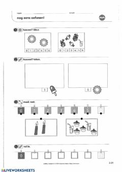 Interactive worksheet Zowiso - P1 - les8