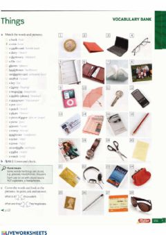 Interactive worksheet Objects we use daily