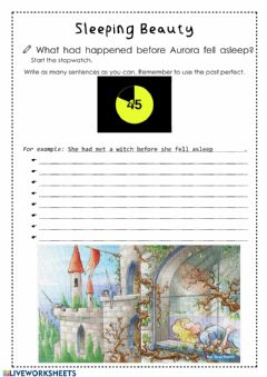 Interactive worksheet Sleeping beauty