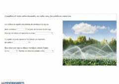 Interactive worksheet Agricultura tipos de cultivo