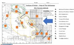 Ficha interactiva Bodies Of Water - Map of the Bahamas