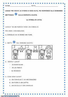 Interactive worksheet La storia di Lucia