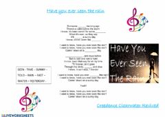 Interactive worksheet Have you ever seen the rain Listening