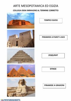 Interactive worksheet Arte mesopotamica ed egizia