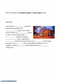 Interactive worksheet Simple present vs simple past