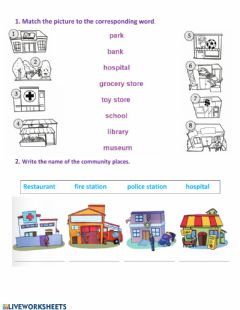 Interactive worksheet Community places