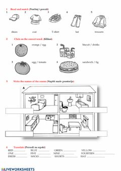 Interactive worksheet FF1, Review3 test, easy