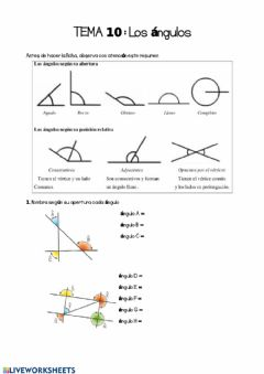 Interactive worksheet Ángulos ncc6