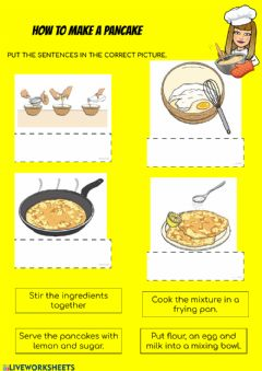 Ficha interactiva How to make a pancake