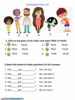Interactive worksheet Physical appearance exercises