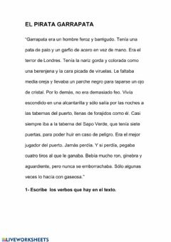 Interactive worksheet Pretérito Imperfecto