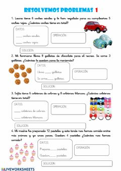 Interactive worksheet Resolvemos problemas 1