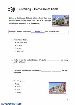 Interactive worksheet Listening 2º ESO