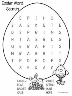 Ficha interactiva Easter wordsearch