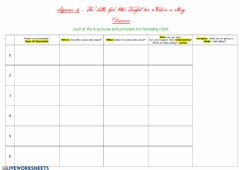 Interactive worksheet The Little Girl who Taught her Nation a Story