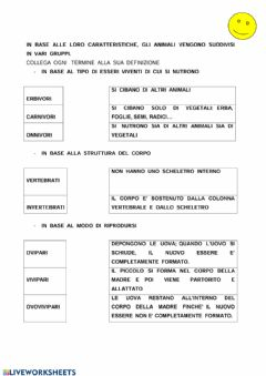 Interactive worksheet I vertebrati 2