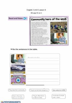 Interactive worksheet Questions about a listening