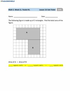 Interactive worksheet Lesson 13 Exit Ticket