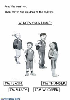 Ficha interactiva Super Minds 1 - What's your name?