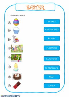 Interactive worksheet Easter activities