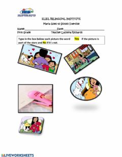 Interactive worksheet Maria goes to school