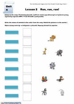 Interactive worksheet Run run run 2