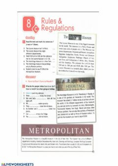 Interactive worksheet Rules and Regulations