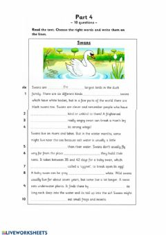 Interactive worksheet Flyers reading and writing part 4