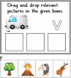 Interactive worksheet Drag and drop objects