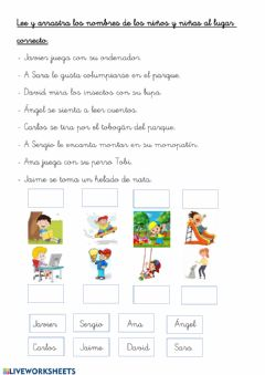 Interactive worksheet LENGUA. COMPRENSIÓN DE ORACIONES.