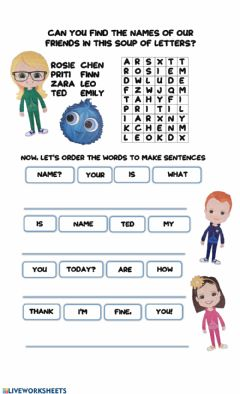 Interactive worksheet Bright Ideas 1 Characters