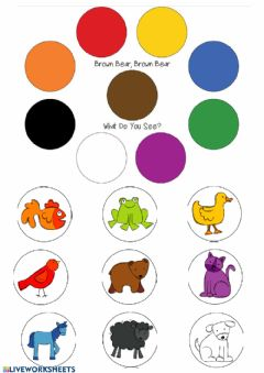 Interactive worksheet Brown bear, brown bear