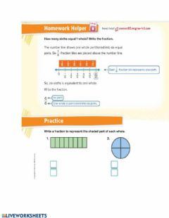 Interactive worksheet Fraction as one whole