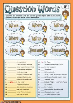 Ficha interactiva Wh-words
