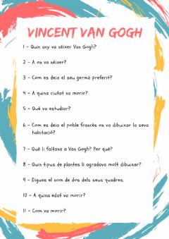 Interactive worksheet Van Gogh