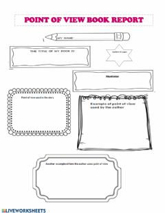Interactive worksheet Point of View Book Report