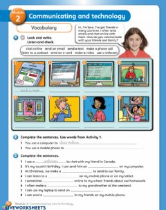 Interactive worksheet Communicating and technology