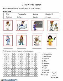 Interactive worksheet Zawody