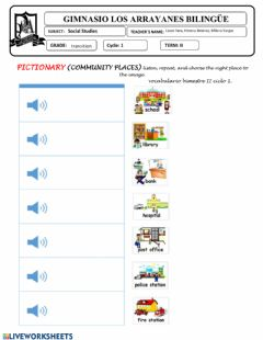 Interactive worksheet Pictionary Community places
