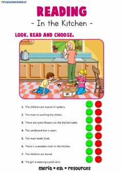 Interactive worksheet Reading - In the Kitchen