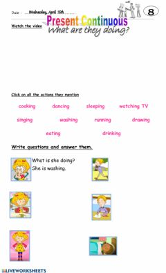 Interactive worksheet 4° 8